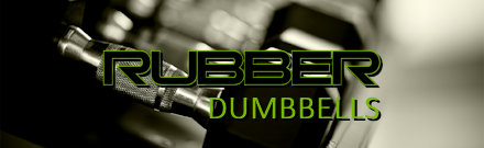Rubber Coated Dumbbells and Dumbbell Sets