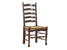 Fairview English Ladderback Dining Side Chair - Rush Seat