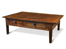 Silverlake Coffee Table with Straight Legs and Two Drawers