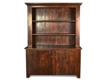 Silverlake Stepback Hutch with Open Shelves