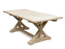 Silverlake Garden Trestle Dining Table - Weathered White