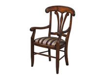 Manchester Manor House Dining Arm Chair - Fabric Seat
