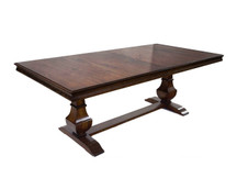 Glenwood Andiron Double-Pedestal Dining Table