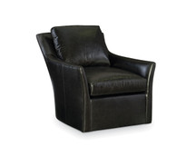 Larren Grey Tempo Leather Swivel Chair