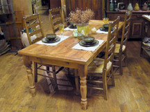 Silverlake Classic Thicktop Dining Table with Turned Legs
