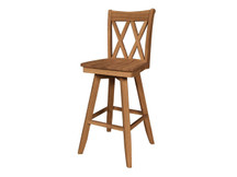 Ridgewood Double-X Swivel Bar Stool
