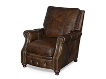 Saddle Cocoa Leather Recliner