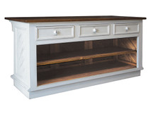 Claremont Kitchen Island - 3 Drawers