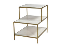 Unionworks Marble & Brass Side Table