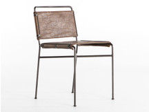Fulton Sling Chair - Brown Leather