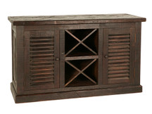 Sierra Louvered Wine Cabinet