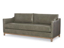 Larren Grey Draper Leather Sofa