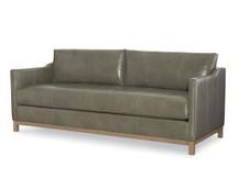 Larren Grey Draper Leather Sofa