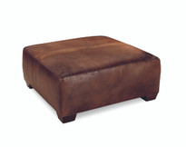 Chelsea Square Leather Cocktail Ottoman