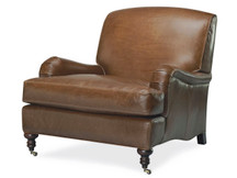 Deerfield Topstitch Leather Chair