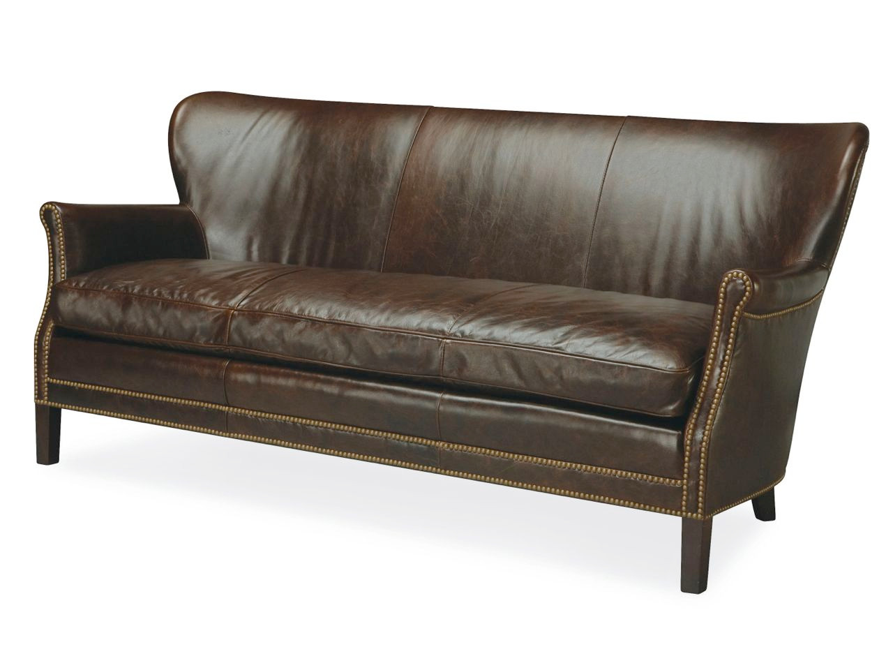 ... Webb Leather Apartment Sofa. Image 1