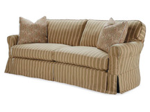 Leigh Slipcovered Curved Sofa