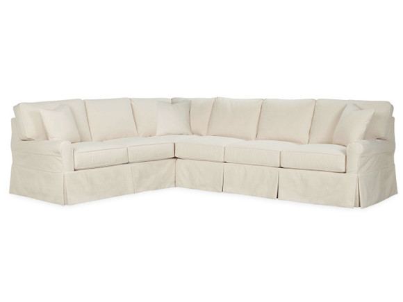 ... Slipcovered Sectional. Image 1
