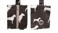 Dog Waste Bag Dispenser in Bow Wow Chocolate