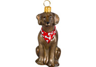 Weimaraner Christmas Ornament Red Bandana