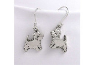 Sterling Silver Westie Earrings