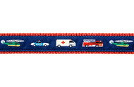 Emergency Vehicles Dog Collar and Leash