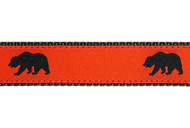 Black Bear Dog Collar and Leash