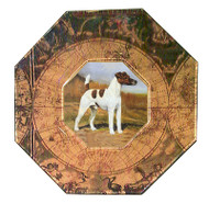 Smooth Fox Terrier Decoupage Plate (# 3)