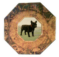French Bulldog Decoupage Plate (# 2)