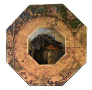 Dachshund (Black & Tan Face) Decoupage Plate