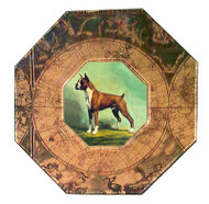 Boxer (Cropped Ears) Decoupage Plate #(2)