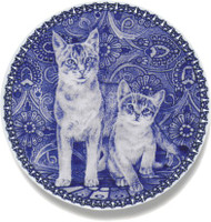 Abyssinian (kitten) Danish Blue Cat Plate
