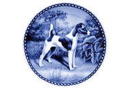 Smooth Fox Terrier Danish Blue Dog Plate (# 2)