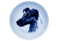 Smooth Fox Terrier Face Danish Blue Dog Plate