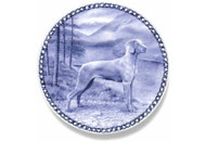 Weimaraner Danish Blue Dog Plate (# 2)