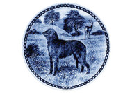 Scottish Deerhound Danish Blue Dog Plate