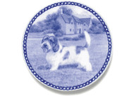 PBGV Danish Blue Dog Plate (# 2)