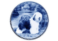 Old English Sheepdog Blue Plate (# 2)