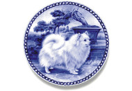 Japanese Spitz Danish Blue Dog Plate