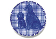 Gordon Setter Puppy Danish Blue Dog Plate