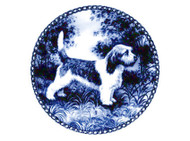 PBGV Danish Blue Dog Plate