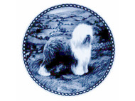 Old English Sheepdog Danish Blue Plate