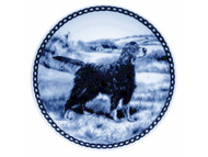 Gordon Setter Danish Blue Dog Plate