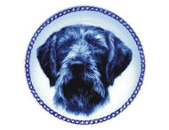German Wirehaired Pointer Danish Blue Dog Plate