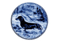 Dachshund (Smooth) Danish Blue Dog Plate