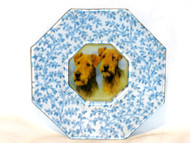 """Airedale 5"""" Decoupage Dog Plate"""