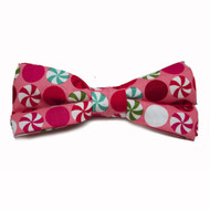 Pink Peppermint Bow Tie For Dogs