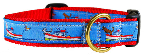 Lobster Boats with Bow Dog Dog Collar