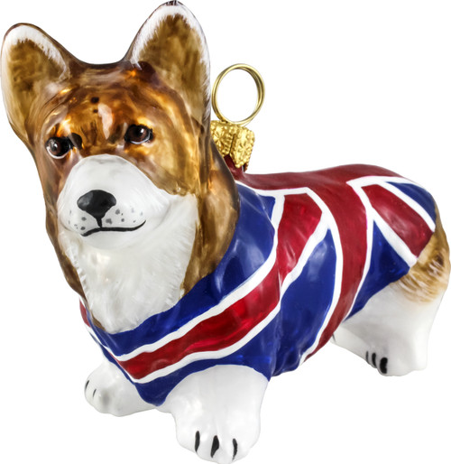 corgi christmas ornament with union jack coat - Corgi Christmas Ornaments