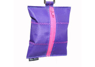 Dog Waste Bag Dispenser in Sailcloth Salty Dog Purple and Pink